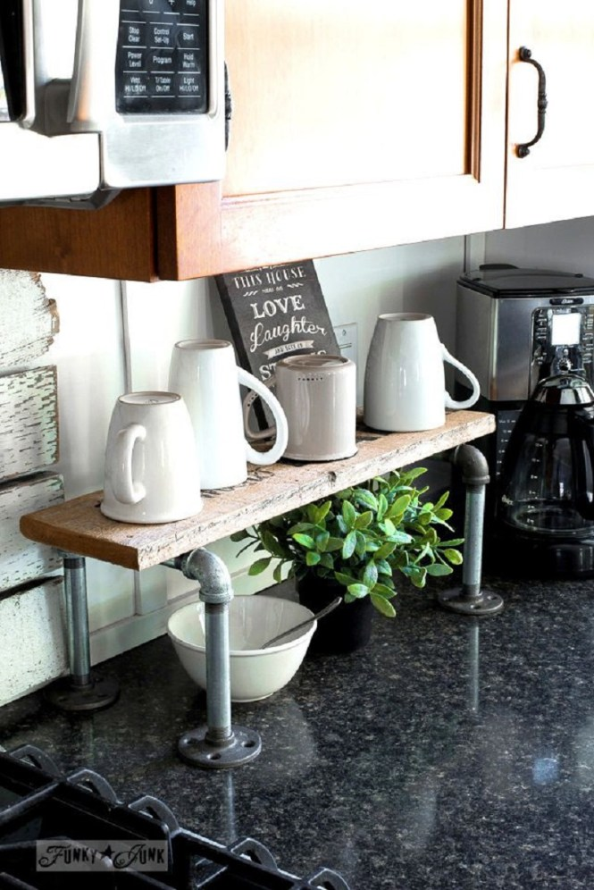 Coffee Bar With Industrial Touch