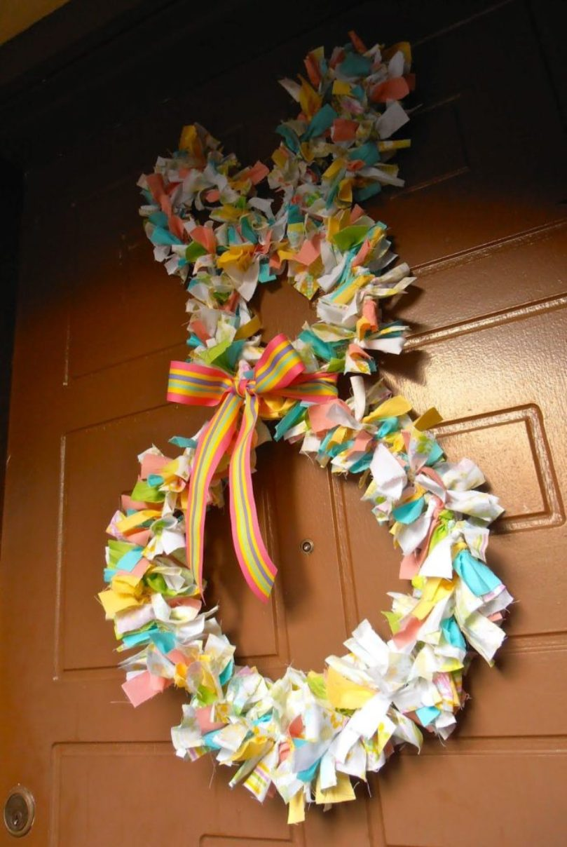 Fabric Bunny Wreath