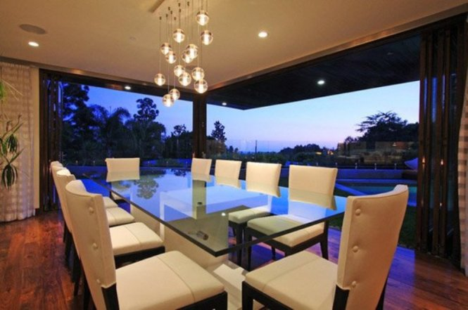 Glass Table And Glass Wall