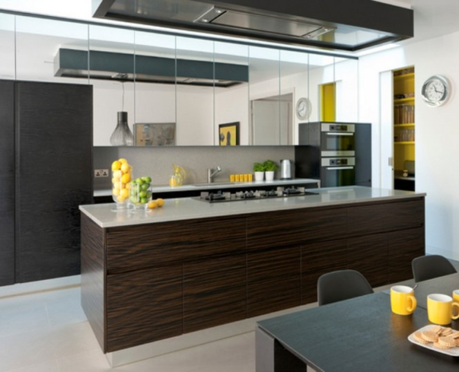 Kitchen With Contemporary Handle Less Design