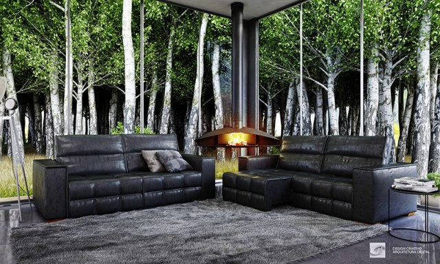 Living Room With Masculine Touch