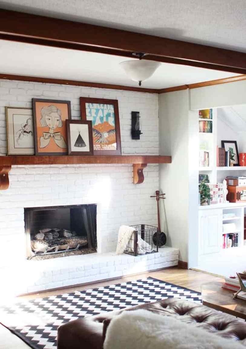 Mantel Wall With White