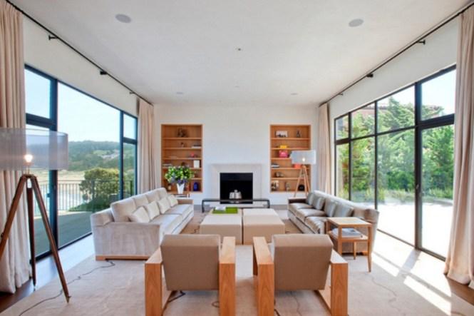 Minimalist Long Living Room