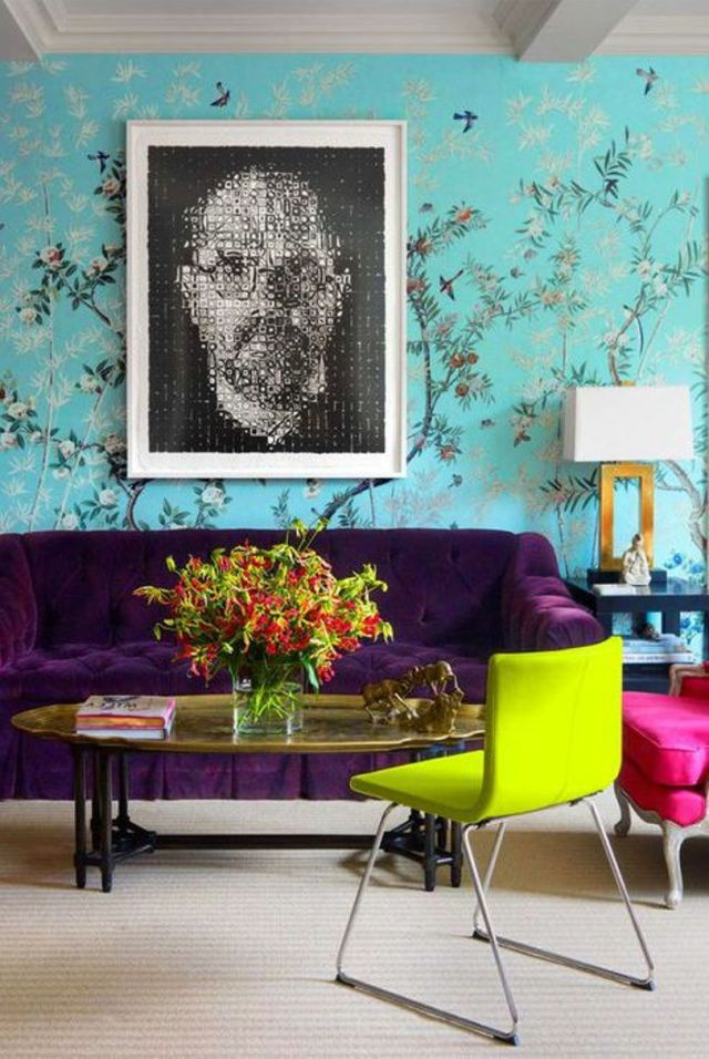 Modern Meets Traditional With Wallpaper