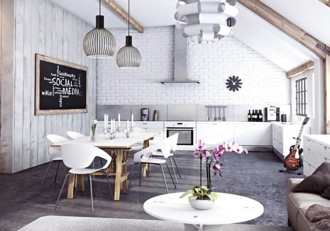 Open Plan Kitchen Dinning Living Room