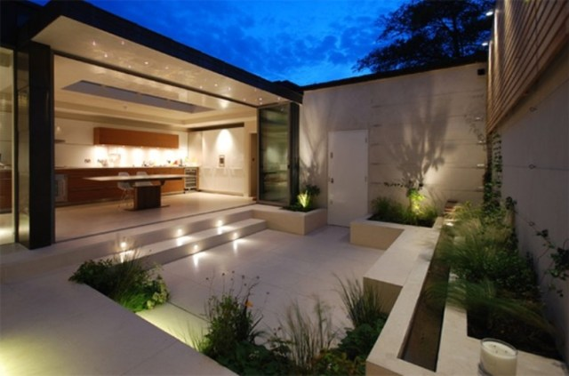 Outdoor With Open Plan Kitchen