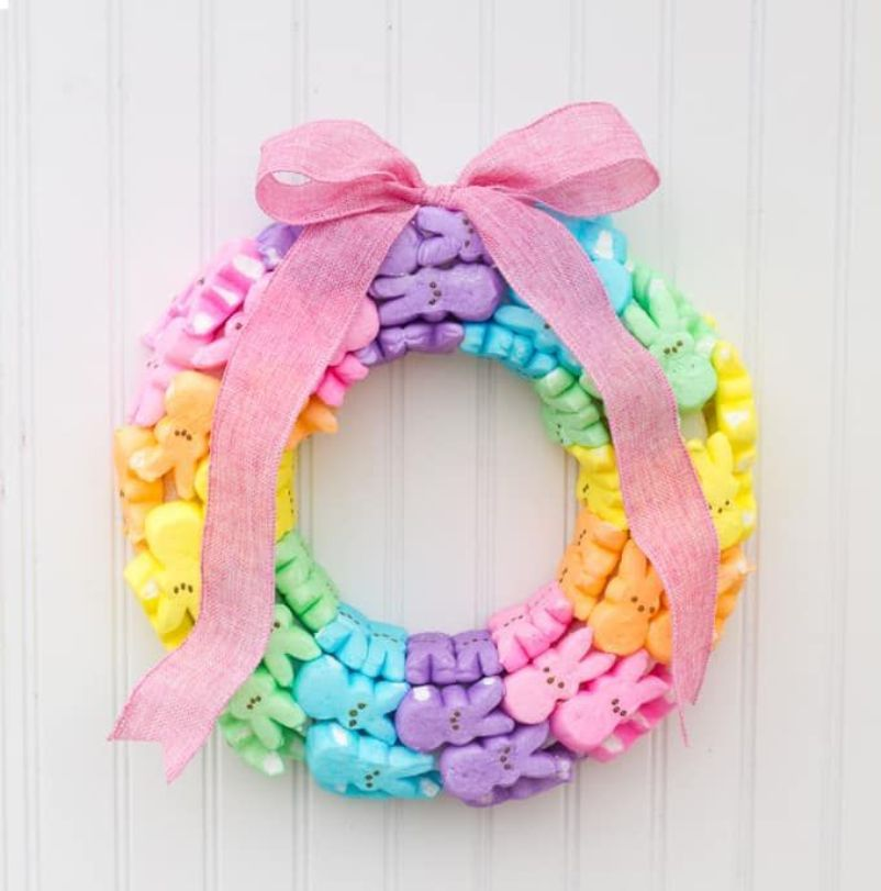 Rainbow Bunny Wreath