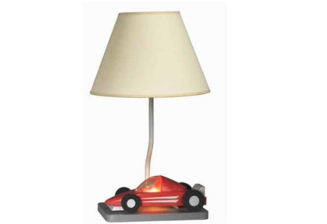 Table Lamp With Red Car