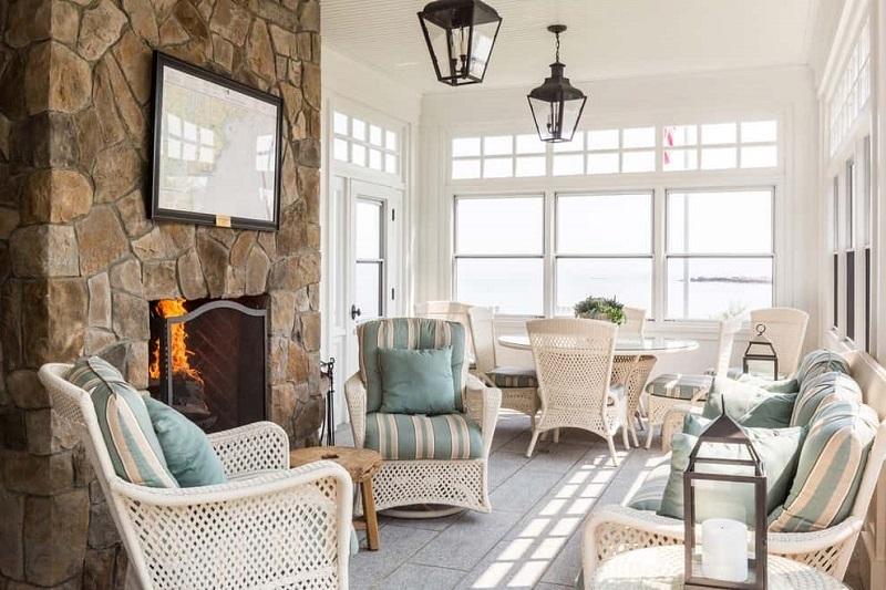 Whitewashed Sunroom Interior