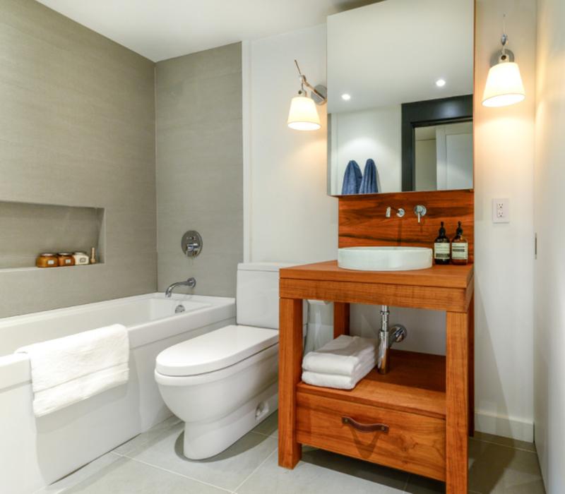 Contemporary Look Condo Bathroom