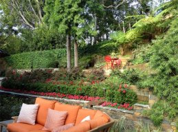 Gorgeous Garden With Terraced Planters