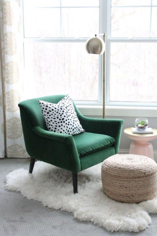 Green Velvet Chair