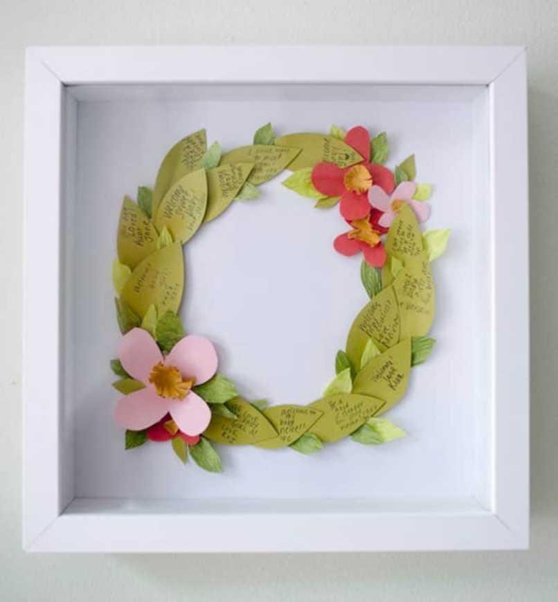 Leaf Shaped Floral Wreath
