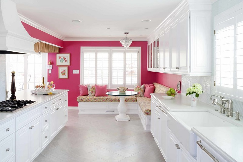 Shocking Pink Accent Wall