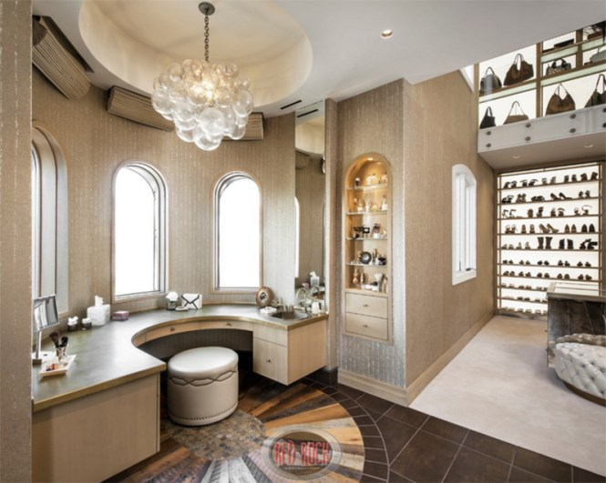 Walk In Closet With A Vanity