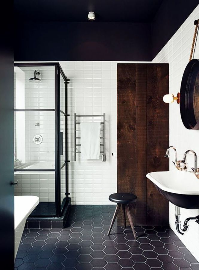Dark Scandinavian Bathroom
