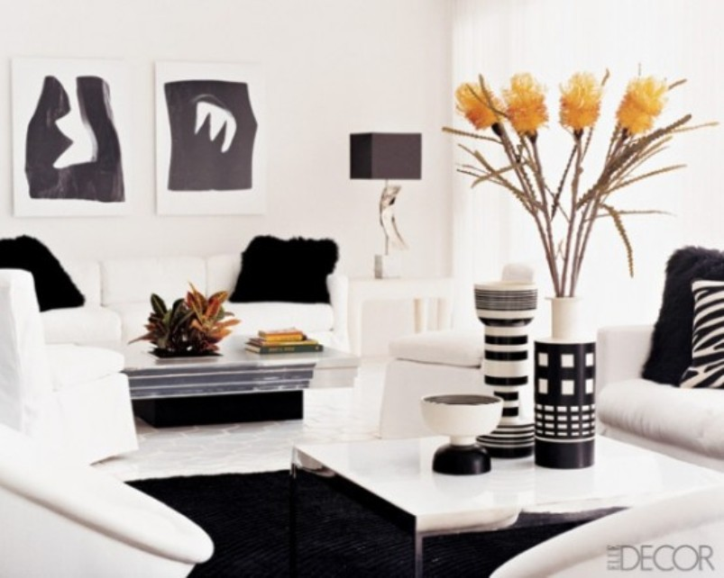 A Minimalist Black And White Living Room