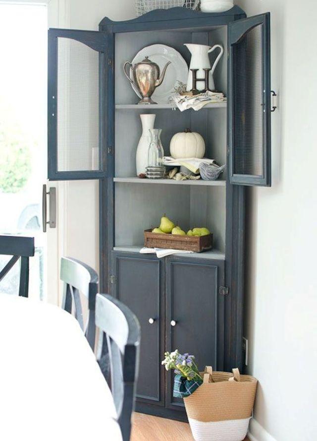 Graphite Grey Corner Cabinet