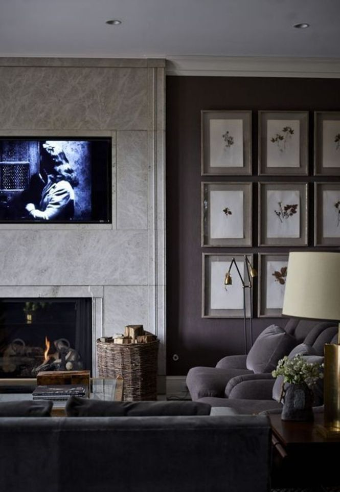 Living Room With A Gallery Wall
