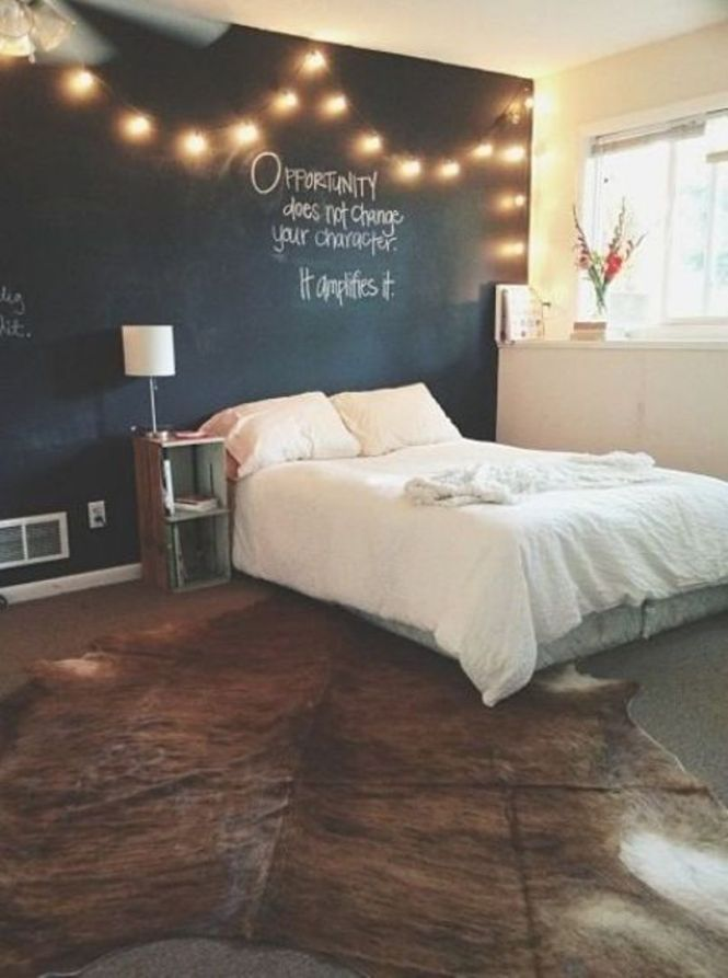 String Lights Over The Bed
