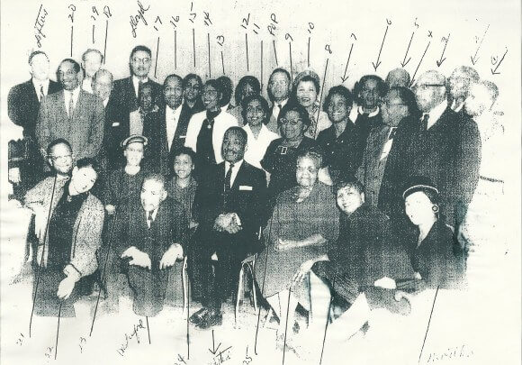 When Martin Luther King was at the home of Charles Lunsford