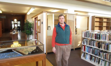 Providing hope for the homeless in the back alcove of Rundel Library