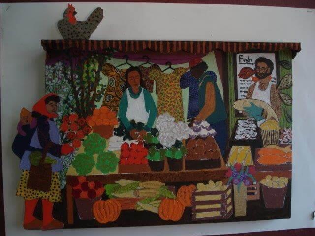 Market painting maquette (1)