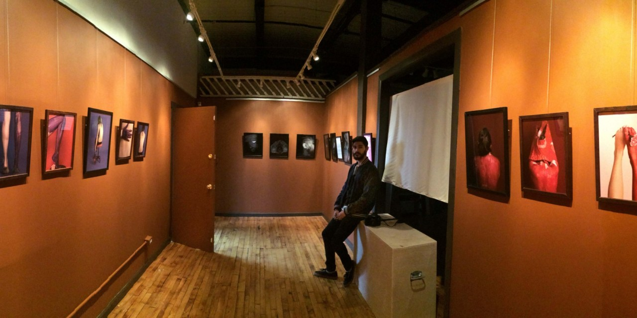 Krit Upra, one of Rochester's emerging artists given a stage at Gallery 4 – 8 in the Anderson Arts Building