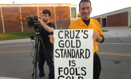 Talker interviewed by Channel 8. Knowledgeable supporters back Cruz's gold standard