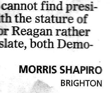 In Memoriam: Morris Shapiro 1913 – 2016