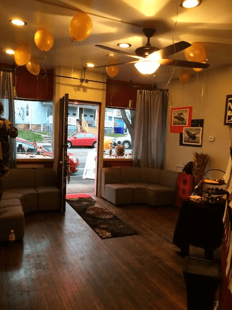 An art exhibit at the Updegraff Gallery helping its neighbors down the road