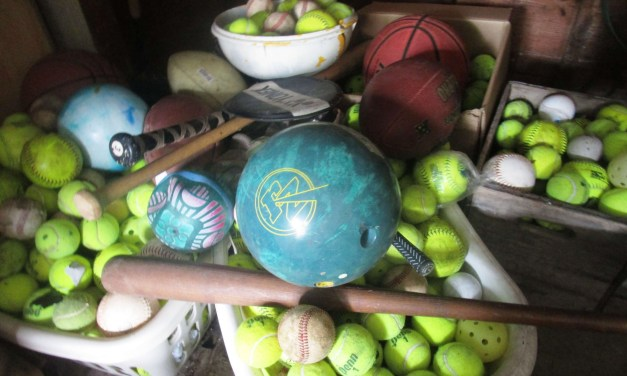 Talker staff demands royalties! Buy orbs at Sotheby's in Brighton: the Meadowbrook Garage Sale. And meet the staff