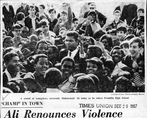 In 1967 when Muhammad Ali was at Madison and Franklin
