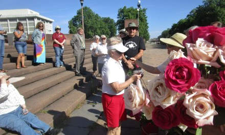 Memorial Day, Peace and Remembrance, and roses floating in the Genesee