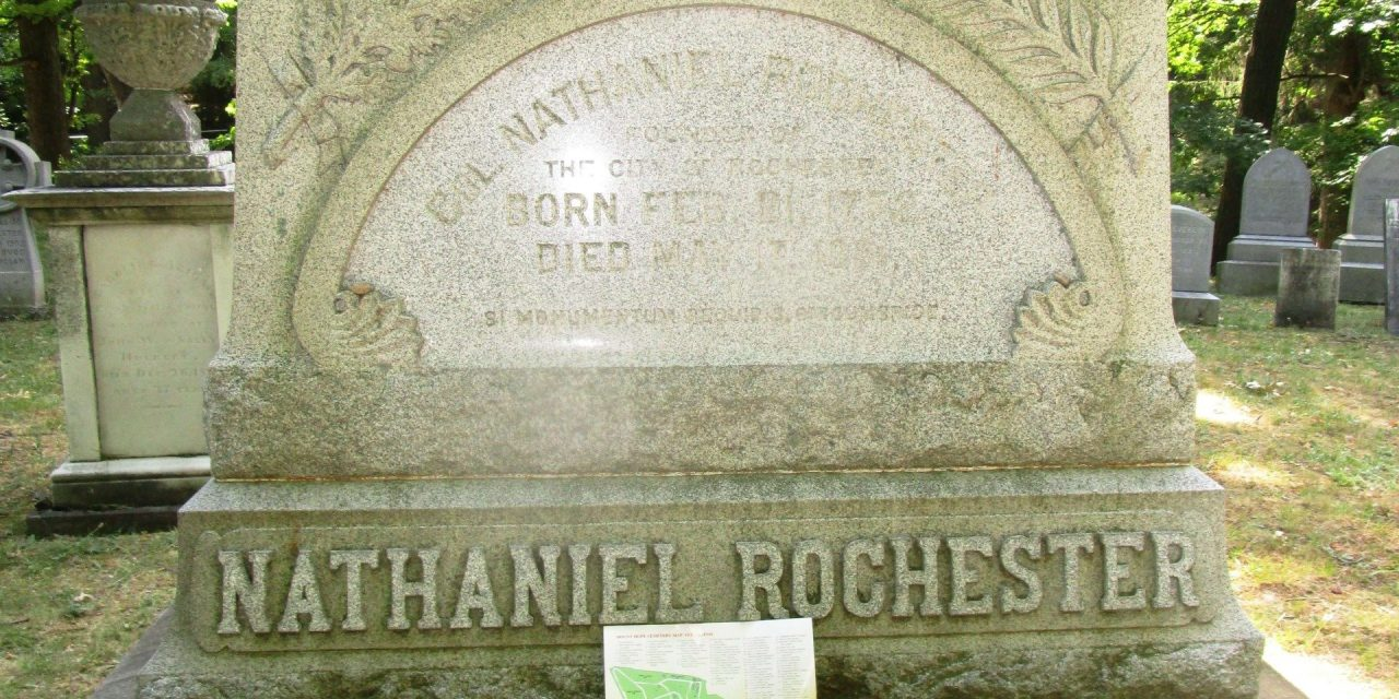 When former President John Quincy Adams visited Rochester on July 27th and 28th, 1843 and toured Mt. Hope Cemetery