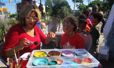 Painting faces and building community in the JOSANA neighborhood