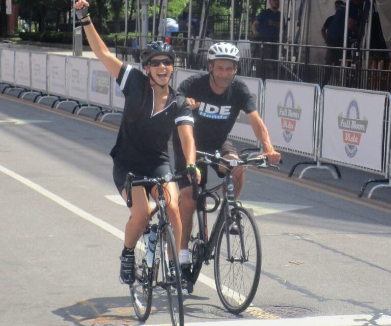 For Golisano Children's Hospital with love at the inaugural Gran Fondo at the Twilight Criterium
