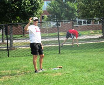Daniel retreving ball