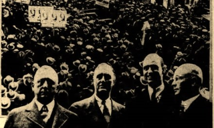 Governor Roosevelt's triumphant return to the Convention Hall, October 18th, 1932