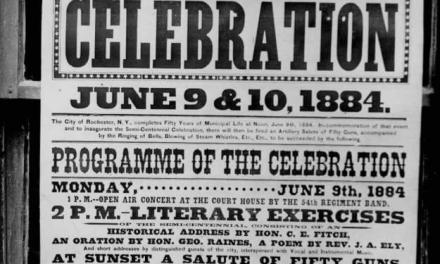 June 10th, 1884 when soon-to-be-president Governor Grover Cleveland spoke at the Rochester Semi-Centenial