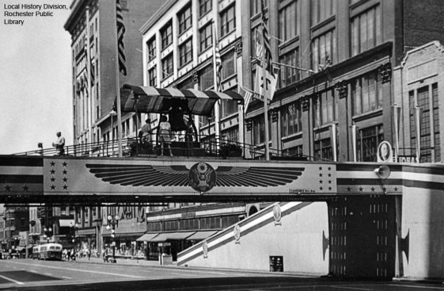 Liberty Bell Bridge over Main Street - 1944