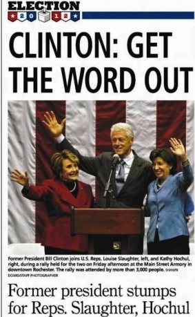 Democrat-and-Chronicle-20-Oct-2012-Sat-Main-Edition-clinton