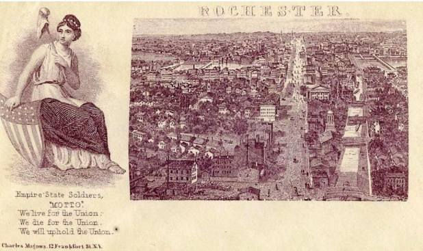 Patriotic photo of Rochester at beginning of Civil War new