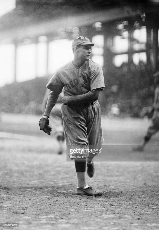 -10/12/1916-New York, NY: Ebbets Field. Red Sox pitcher Leonard warms up before fourth game of the World Series.