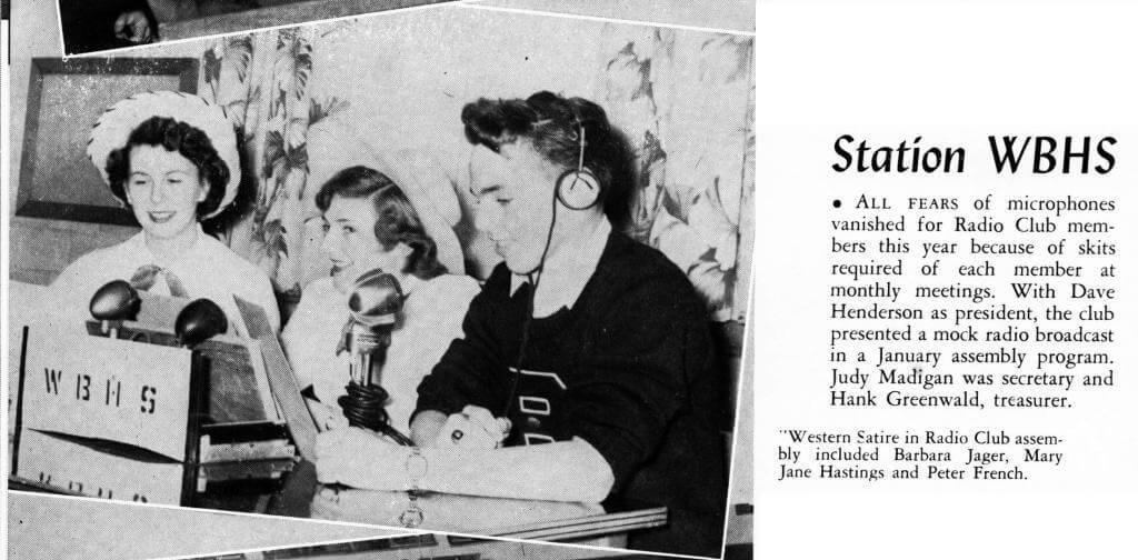 Radio Club, Crossroads, 1953, Howard Greenwald was the Treasurer