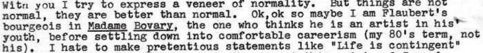 Passage from letter sent by David Kramer to Eugene and Carol Kramer, 4/86