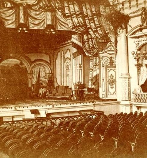 Grand Opera House S. St. Paul Street (later South Avenue), Rochester, NY  Opened: 1871 (John Rochester Thomas, designer) Destroyed (fire): February 19th, 1891