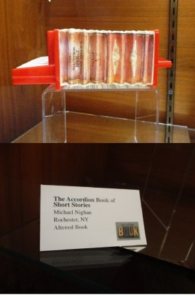 Michael Nighan, Rochester, NY The Accordion Book of Short Stories Mixed media