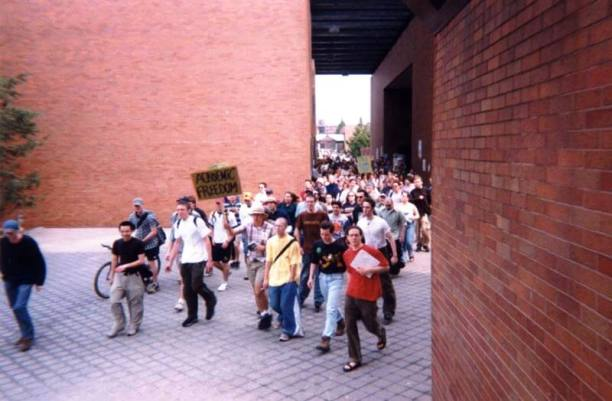 RIT Students Rally in Support of Shea Gunther, May 1998