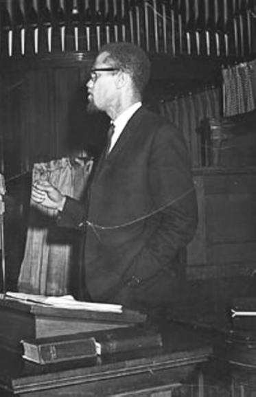 ALL PHOTOS COURTESY FRANKLIN FLORENCE PAPERS, DEPARTMENT OF RARE BOOKS & SPECIAL COLLECTIONS, UNIVERSITY OF ROCHESTER LIBRARY. - Malcolm X